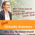 P027: Von der ersten VA zum Core-Team